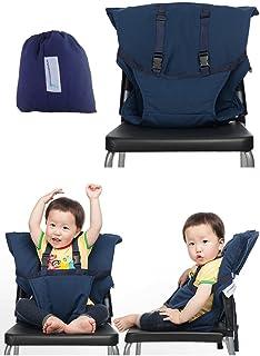 (ヘラサ)Herasa ベビーチェアベルト 布製 コンパクトに収納 携帯便利 (濃いブルー)