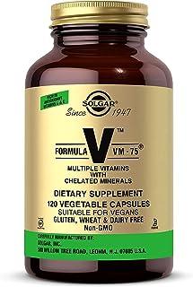 Solgar Formula VM-75, 60 Vegetable Capsules - Multivitamin with Chelated Minerals - Vitamin A, B6, B12, C, D, E - Biotin, ...