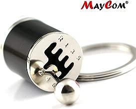 Maycom Creative Auto Part Model Six-Speed Manual Transmission Shift Lever Keychain Keyring Key Chain Ring Keyrings Keyfob (Black)