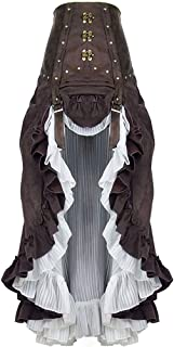 Moonight Women's Steampunk Cosplay Skirt Renaissance Ruffle Skirt