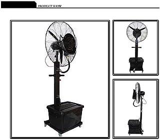 XFPINK De pie Potente Eléctrico Potente Grande Negro Enfriamiento Ventilador centrífugo Nebulización Industrial Humidificación para Restaurante de Oficina Industrial Tamaño: 71cm / 81cm
