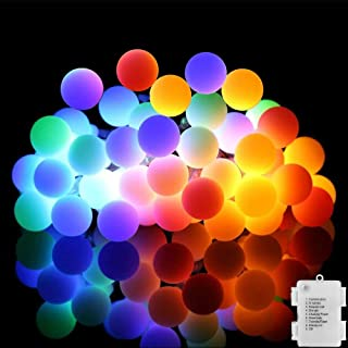 Led Christmas Lights, 80 Led Globe String Lights with 8 Modes, Waterproof Battery String Lights for Christmas, Home, Garden, Wedding, Party, Indoor/Outdoor Decorations (Multicolor)