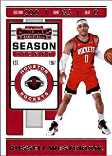 2019-20 Panini Contenders Basketball #90 Russell Westbrook Houston Rockets Basketball Card