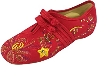 VonVonCo Sandal Toe Flip Summer Casual Sexy Beach Latest Women's Firework Embroidered Cotton Double Buckles Flats Vintage Shoes