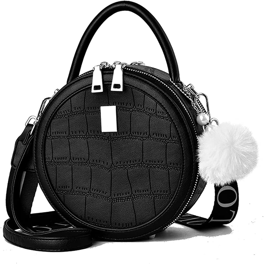 Fort Worth Mall Small Circular Crossbody Purse for Girls Teen Leather Shoulder Outlet ☆ Free Shipping