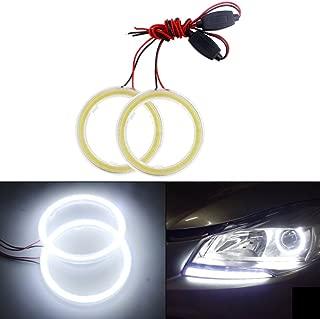 GrandviewTM 2pcs Car Light LED Chips 70MM 60SMD Angel Eyes Halo Ring Headlight Warning Lamps 12V White