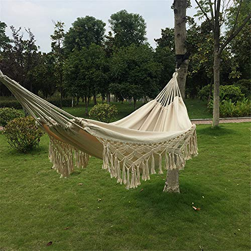 AAGYJ 200 x 150cm Large Hammock Swing Chair, 440LBS Max Load, Hang Bed, Oversized Camping Hammock, for Travel, Hiking, Beach, Outdoor, Patio, Garden