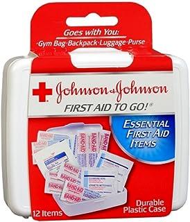 کمک های اولیه برای رفتن! - توسط جانسون و جانسون - اقلام ضروری در یک کیت سفر مینی کمک های اولیه برای افراد بر روی بروید - 12 بسته از 12 مجموعه کیت