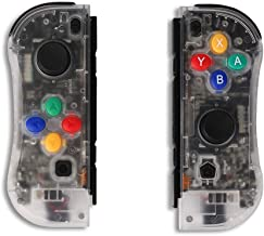 Aosai for NS Switch Joy Pad Controllers - Left and Right Controllers Compatible for Nintendo Switch Console as a Joy Con Controller Replacement (Clear)