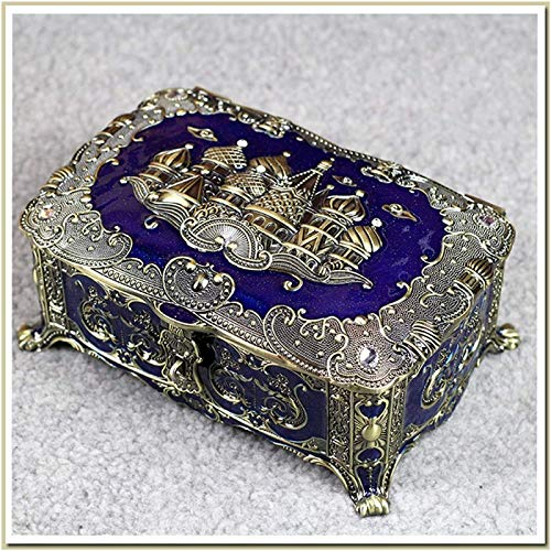 ZHANG Enamel Alloy Jewelry Box, Creative Exquisite Ring, Necklace Jewelry Organizer, For Girls, Ladies' Birthdays,A