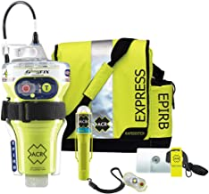 GLOBALFIX V4 EPIRB Survival Kit with Signal Mirror, Ditch Bag, Strobe Lights, and USCG Whistle (ACR PN 2348)