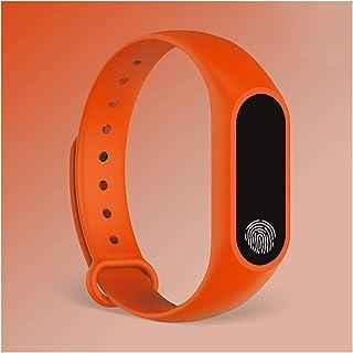LYB Bracelet Sport Smart Watch Kids Montres Children pour Filles Garçons Enfants Bracelet Smart Bande Fitness (Color : Ora...