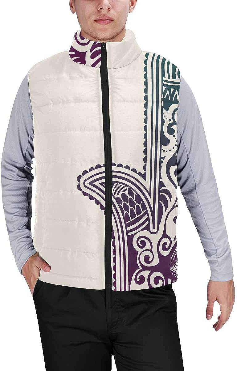 InterestPrint Winter Lightweight Personality Design Padded Vest for Men Halloween