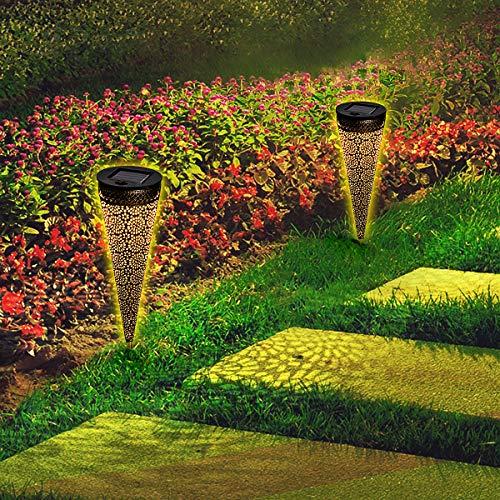 Osaloe Solarleuchten Garten 2 Stück, IP65 Wasserdichte Solarlampen für Außen, LED-Dekoration Solarbeleuchtung, drahtlose Solarleuchten für Party, Hochzeit, Terrasse, Park, Weihnachten