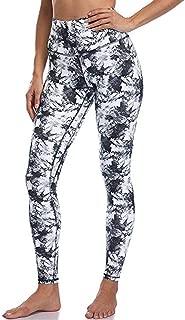 Jinqiuyuan Women Sport Fitness Sport Leggings Print Yoga Pants Sports Trousers Running Sexy Push Up Gym Wear Elastic Slim Pants (Color : White, Size : XL)