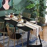 LCSHAN Tischläufer-einfache Moderne Streifen-Ausgangsstoff-Fernsehmöbel-Kaffeetisch-Bett-Flagge (Color : Beige, Size : 30 * 180CM)