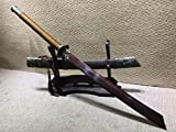 Chinese Swords,Broadsword,Kangxi dao,Damascus Steel red Blade,Alloy Fittings,Rosewood Scabbard