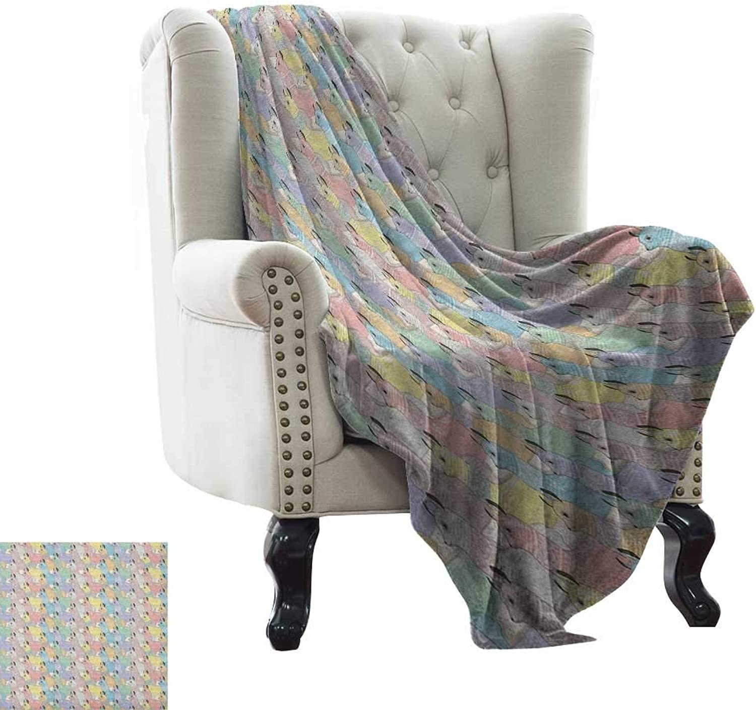 Teen Room,Weave Pattern Extra Long Blanket,Cute Little Alpacas Pattern Soft Toned Camel Animal Kids Nursery Folkloric Print 60 x36 ,Super Soft and Comfortable,Suitable for Sofas,Chairs,beds