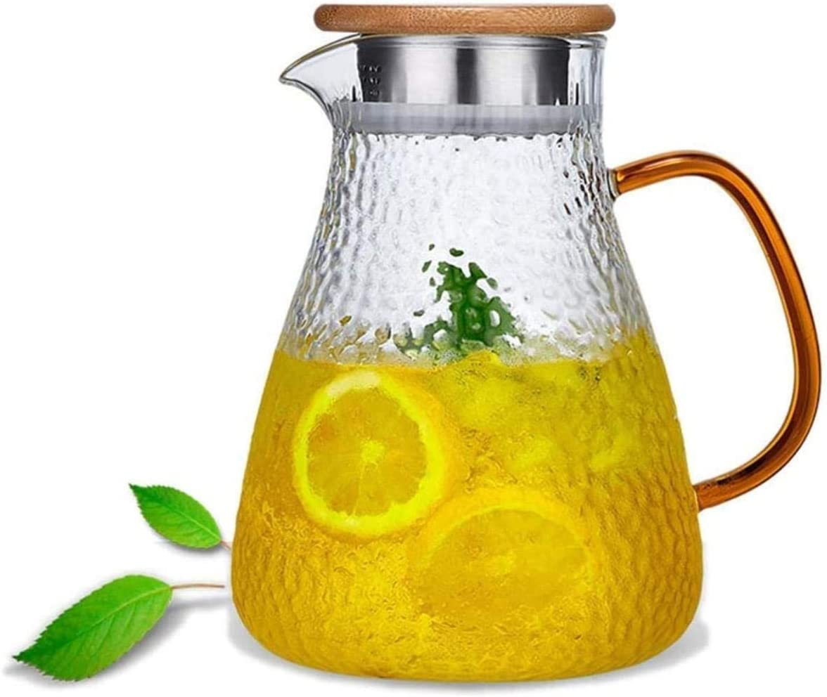 Kettle 1.6Liter Carafe Glass Pitcher Borosilicate Special price Free Jug 5 ☆ popular Lead