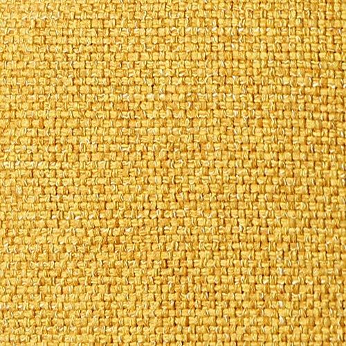 DESHOME Penelope - Tessuto al Metro Idrorepellente stoffa resistente per divani, cuscini, tappezzeria (Giallo sole, 1 metro)