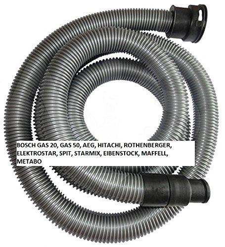 Saugschlauch / Staubsaugerschlauch für BOSCH Gas 25, Gas 50, Gas 50M, AEG RSE 1400, EIBENSTOCK DSS 1250, HITACHI RNT 122, RNT 1250, ELEKTROSTAR 2078, MAFFELL S 25, S50, ROTHENBERGER 1200, SPIT AC 1600, STARMIX ARD, METABO ASR 2025 etc. - 3m - Zubehör für Staubsauger