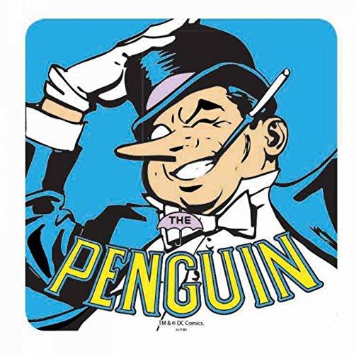 Véritable coaster de boissons DC Comics Batman Penguin simple tapis rétro Vintage Oswald
