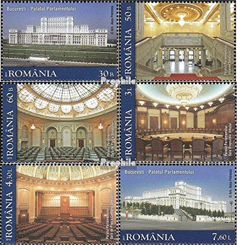Prophila Collection Rumänien 6516-6521 (kompl.Ausg.) 2011 Parlamentpalast (Briefmarken für Sammler)