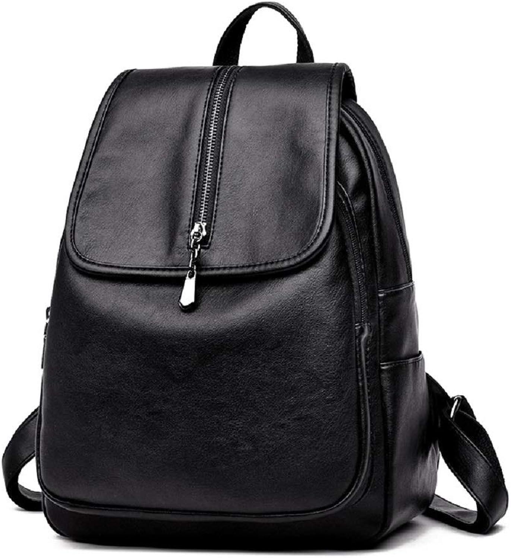 Zhrui Woherren Casual Rucksack Rucksack Rucksack für Fashion Out Travel Rucksäcke aus schwarzem Leder (Farbe   Schwarz) B07G5D5J2J | Spaß  4c621c