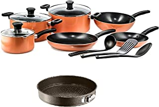 Tefal Prima Cooking Set of 12 Pieces and EasyGrip Gold Springform (Multi Color)