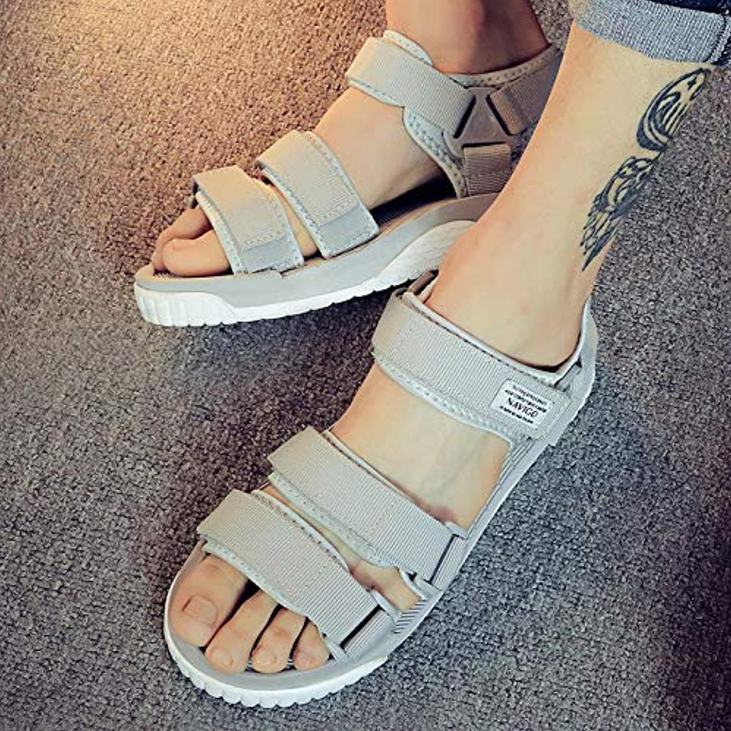 Shukun Herrensandalen Sandals Men's Casual Summer Middle School Students Fashion Teen Couple Beach schuhe