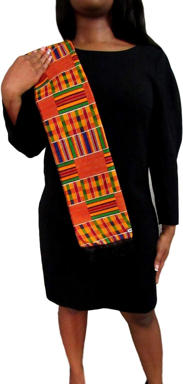 African Kente Scarf, Kente Stole, Kente Cloth, African Scarf, African Print, Black Graduation, Black History, Kwanzaa, Afrocentric, Africa,