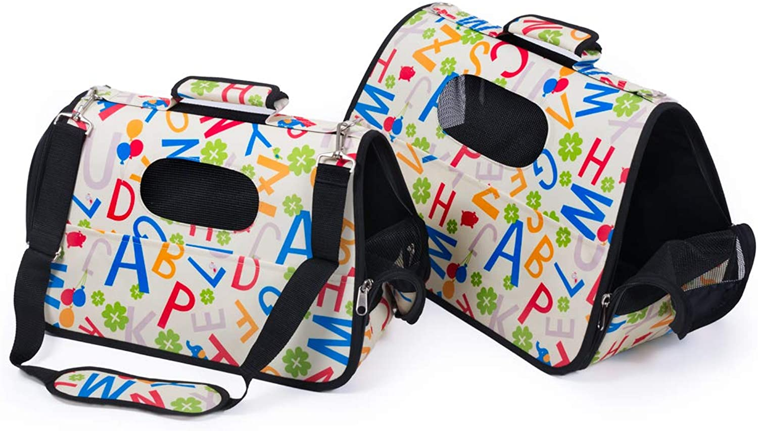 Farm Company 8058773556455 Set of 2 Easy Travel Abc Carriers, Multicoloured