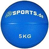 ScSPORTS® Medizinball für varaibles Training, Gewichtsball aus texturiertem Gummi für optimalen...