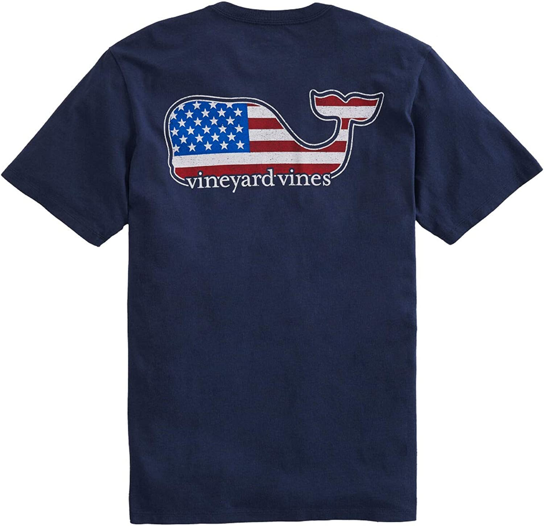 Vineyard Vines Men's Short-Sleeve T-Shirt Whale Pocket Tulsa Mall Americana Charlotte Mall