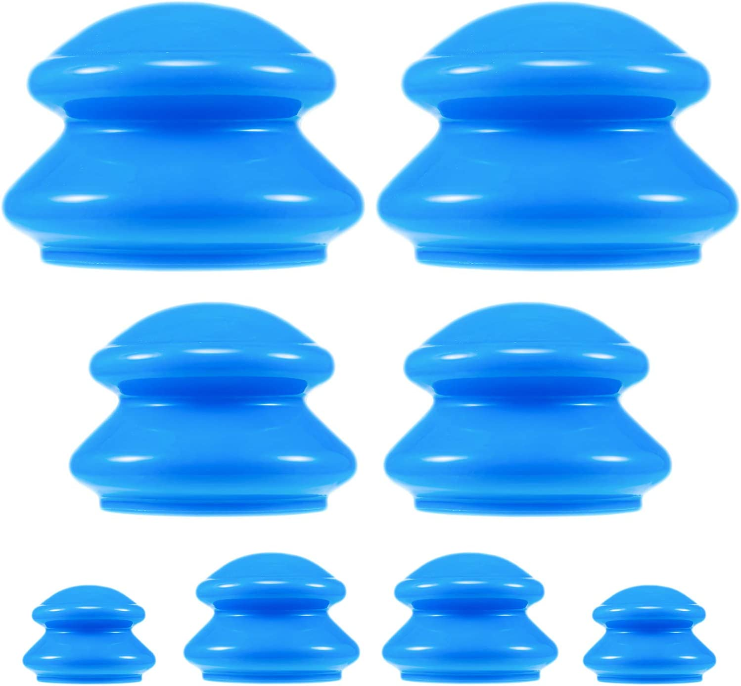 8 Limited price Pieces Silicone Finally popular brand Cupping Set Massage Vacuu Cups 4 Size