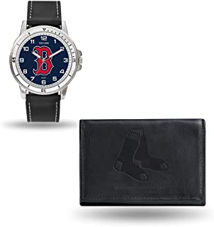 Rico Industries MLB Men's Watch and Wallet Set (Black)