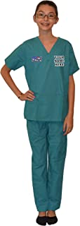 Personalized Kids Nurse Scrubs with RN Flag Embroidery Design