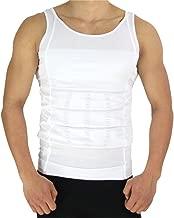 Men's Compression Undershirt Shirt Vest Tank Top Body Shaper Workout Tank Tops Training Shirt Perfect for running, workout, gym, yoga, dailywear - White XL