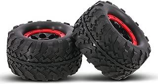 Goolsky 2Pcs AUSTAR AX-3011 155mm 1/8 Monster Truck Tires with Beadlock Wheel Rim for TRAXXAS SUMMIT E-Revo HPI Savage XL Flux HSP RC Car