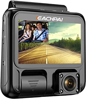 Máy thâu hình đặt trên xe ô tô – Dual Dash Cam Full HD 1920x1080P Inside and Outside Car Camera Dash Cams 3″ LCD with Super Capacitor, Sony Sensor, WDR, Super Night Vision, G-Sensor, Loop Recording, Motion Detection for Uber Lyft Ta