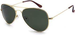 SunCristal - Gafas de metal clásicas Cara pequeña Hombres Mujeres Adolescente UV400 Gafas de sol polarizadas