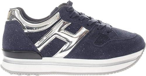 Hogan Junior Sneaker H222 H Grande Bambina Blu/Argento 32 Taglia ...