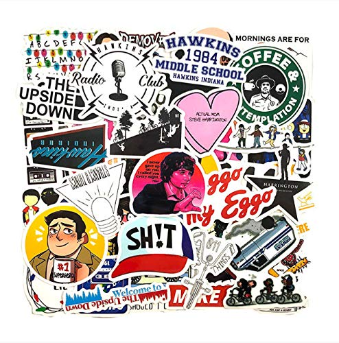 YYSDD Stranger Things Graffiti Stickers For Diy Luggage Laptop Refrigerator Motorcycle Car Diy 50Pcs