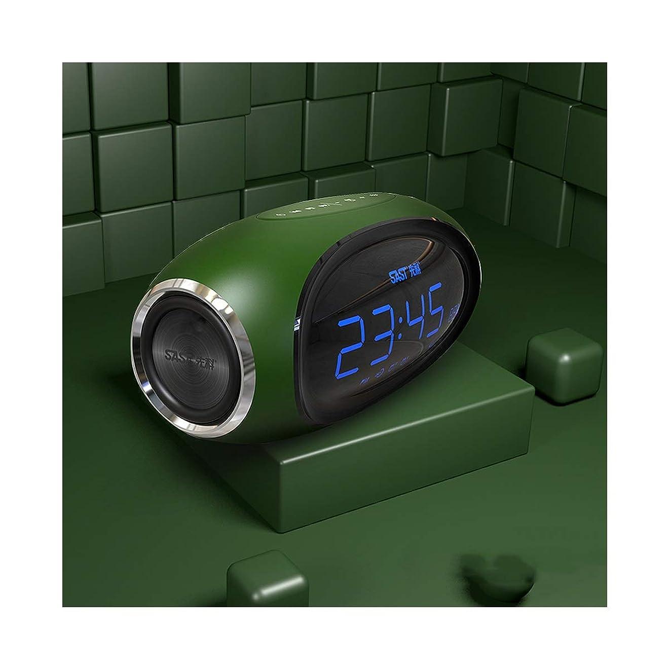香水コロニアルすべてCHENTAOCS Bluetoothのスピーカー、ポータブルホームアラーム時計、ワイヤレスサブウーファー、ステレオ、3Dサラウンドハイパワースピーカー (Color : Green)