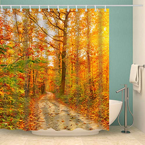 Deirdre Agnes Gedrukt 3d douchegordijnpatroon badkamer douche waterdicht en schimmel decoratief douchegordijn 180x200cm