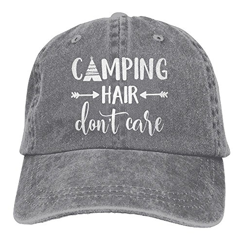 Splash Brothers Customized Unisex Camping Hair Don't Care Vintage Adjustable Baseball Cap Denim Dad Hat