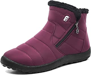 Womens Mens Snow Boots Fur Lined Winter Snow Booties Outdoor Footwear