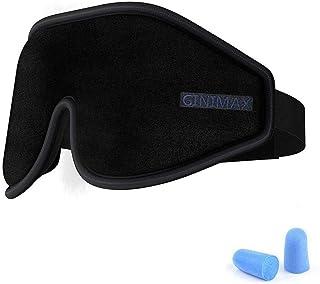 (ギニマックス) GINIMAX 3D輪郭アイマスク 男女兼用 高級遮光アイカバー 調節可能なストラップ付き アイブラインド 旅行/睡眠/シフト作業用 耳栓とトラベルポーチ付き