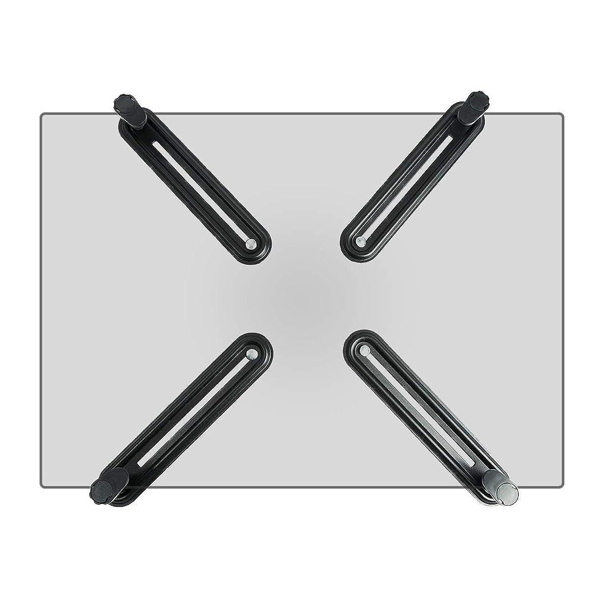 シロクマベイビー重要な役割を果たす、中心的な手段となるSuptek モニターアーム 無VESA穴調節器 アダプタ 13-27インチ対応 VESA規格75×75-100×100mm WK002