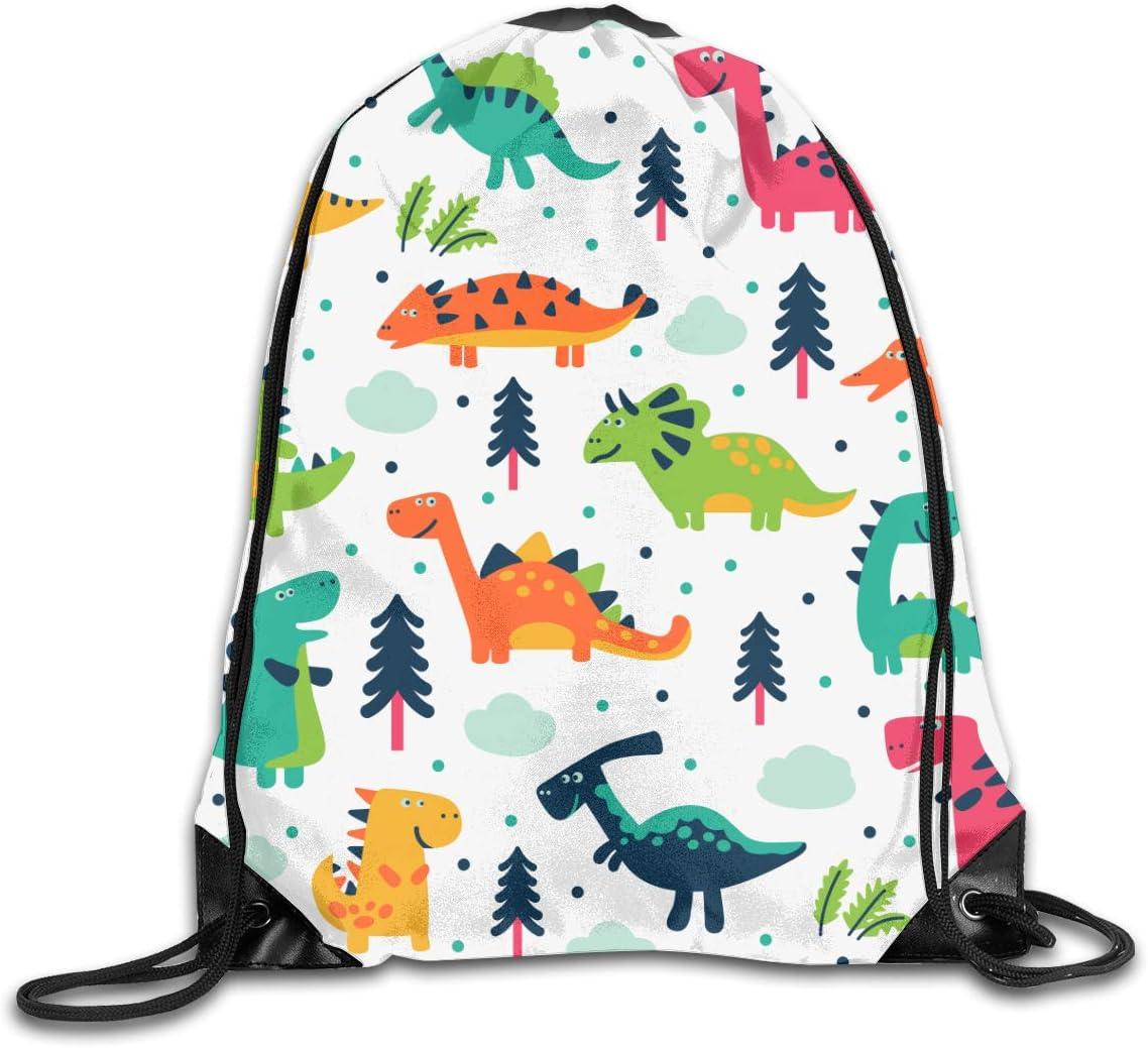 Cartoon Dinosaurs Drawstring Popular brand Backpack Albuquerque Mall Sack Cinch Bag Polyester